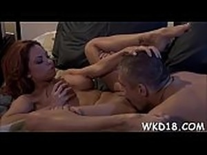 Two sexual babes get loving holes licked and fucked by guy