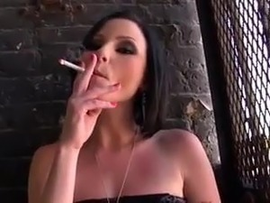 Veruca James smoking