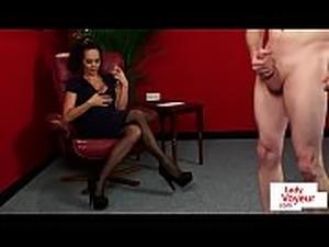 MILF voyeur instructing her submissive