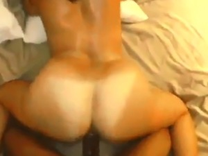 Tanned PAWG moving her ass on Big Black Dick