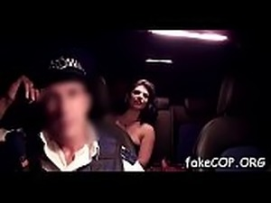 Aroused to the max fake cop is about to reach agonorgasmos