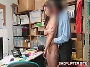 Exploited Shoplifting Skank Backroom-Sex