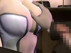 Blondie 3D anime babe show tits