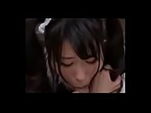Collection of Japanese maid blowjobs