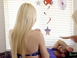 the only way to truly celebrate 4th of july is by banging a couple of blonde...