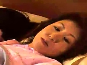Horny Japanese housewife enjoys hot sex with her young lover