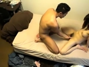 Wild Oriental babe enjoys every inch of cock at every angle