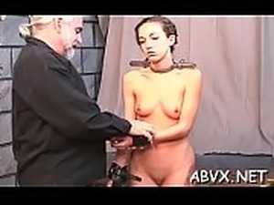 Rough lesbo bondage in non-professional scenes along hot babes