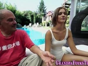 Teen fucks horny grandpa