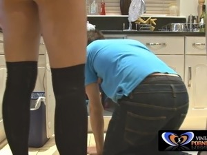 Husband Not Home: British Milf and Plumber