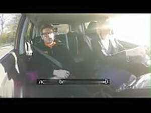 Fake Driving School huge tits hairy pussy student has creampie and squirts