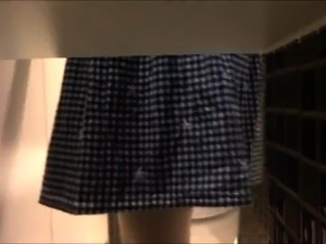 Voyeur spying on lovely amateur Japanese babes in the toilet