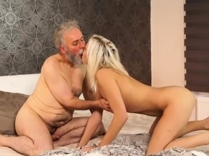 Old man maid Surprise your girlpatron and she will tear up w