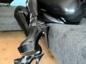 latex tight shiny catsuit