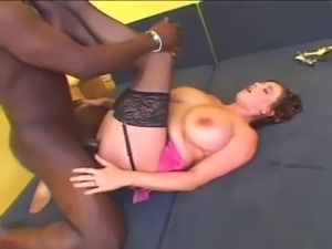 Bozena bbw interracial anal