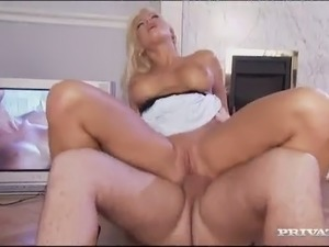 Pretty blond haired chick Stacy Shoves got her anus stretched in side to side...