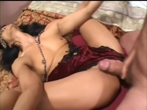 Mature exotic bitch gets blindfolded and ass-fucked