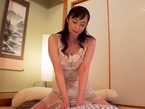 Lustful Japanese mom has a fiery cunt starving for hard meat