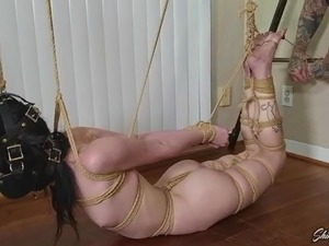 Lydia Hogtied Foot Torment