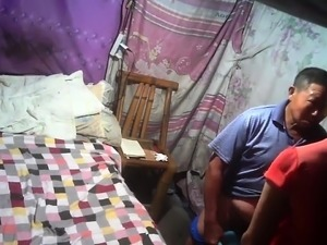 Chinese mother sex for money with old man