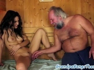 Euro babe and grandpa