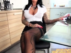 german amateur secretary milf big tits fuck in office