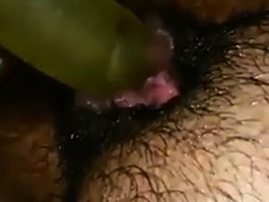 Hairy pussy bate while in public bathroom